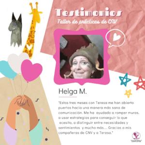 Helga Testimonio practica CNV