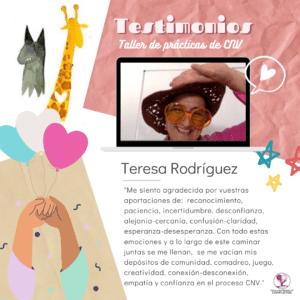 Teresa Testimonio taller CNV